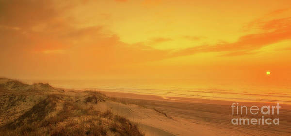 Wall Art - Digital Art - Beach Sunset Outer Banks by Randy Steele