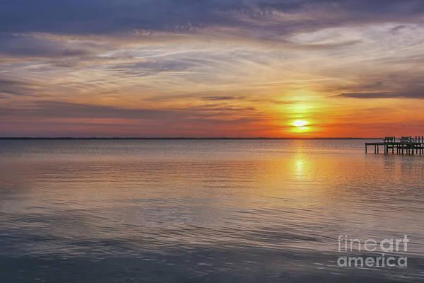 Wall Art - Digital Art - Beach Sunset Outer Banks Three by Randy Steele
