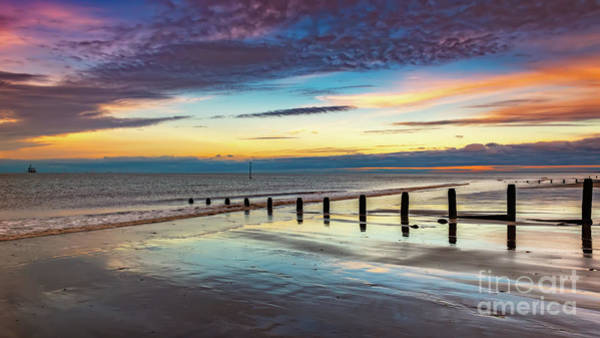 Wall Art - Photograph - Beach Sunset Wales by Adrian Evans