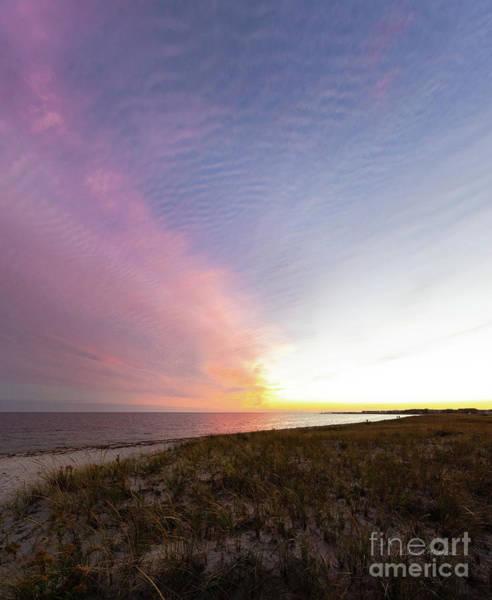 Wall Art - Photograph - Beach Sunset West Dennis Cape Cod by Michelle Constantine