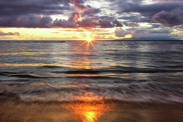 Wall Art - Photograph - Beach Sunset With Soft Water  Kihei by Jenna Szerlag