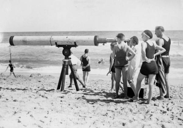 Palm Beach Photograph - Beach Telescope by General Photographic Agency