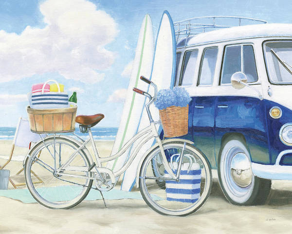 Wall Art - Painting - Beach Time I by James Wiens