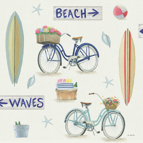 Slate Painting - Beach Time Pattern Vi by James Wiens