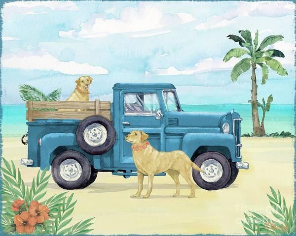 Wall Art - Painting - Beach Truck I by Paul Brent