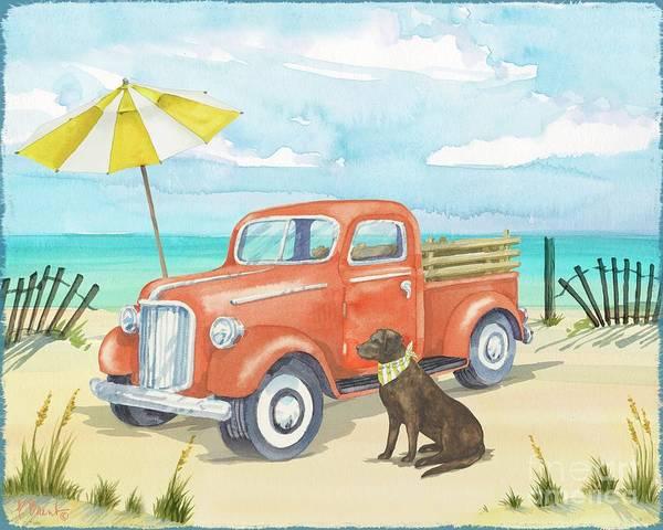 Wall Art - Painting - Beach Truck II by Paul Brent