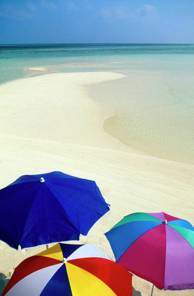 Wall Art - Photograph - Beach Umbrellas, Tropical Beach by Stuart Westmorland