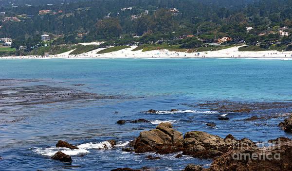 Photograph - Beach View From Carmel Bay by Susan Wiedmann