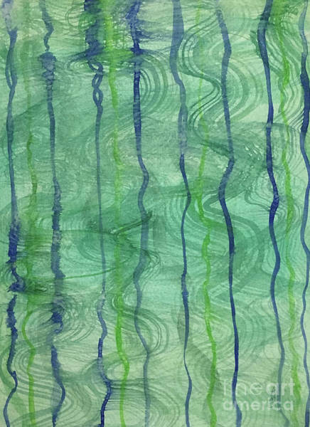 Painting - Beach Water Lines by Annette M Stevenson