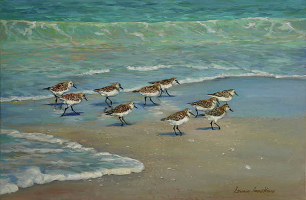 Wall Art - Painting - Beach Workout by Laurie Snow Hein