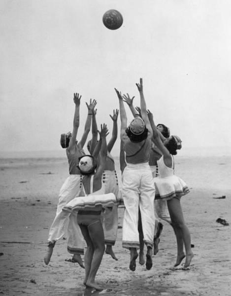Reach Wall Art - Photograph - Beachball by Hulton Collection