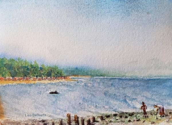 Wall Art - Painting - Beachcombers by Lisa Debaets