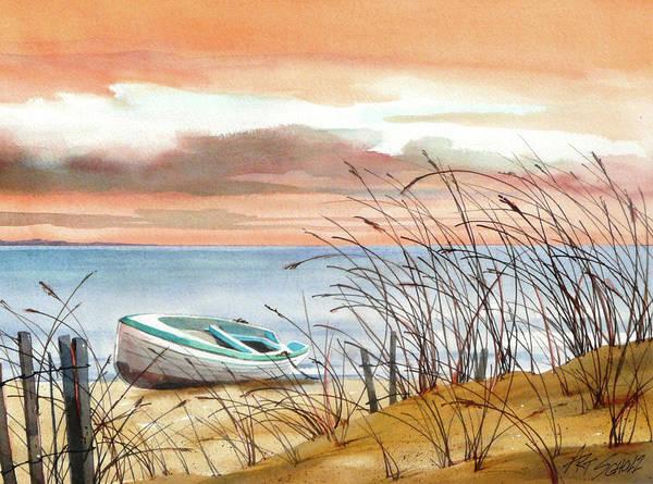 Beached In Breeze Art Print by Art Scholz