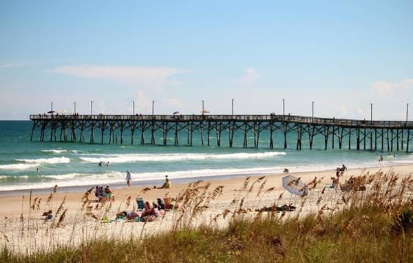 Photograph - Beachgoers At Topsail by Cynthia Guinn