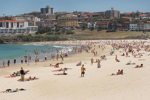 Beach Holiday Photograph - Beachgoers, Bondi Beach, Sydney by Jamie Marshall - Tribaleye Images