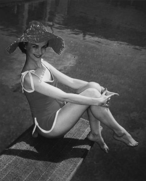 Sun Hat Photograph - Beachwear by Hulton Collection