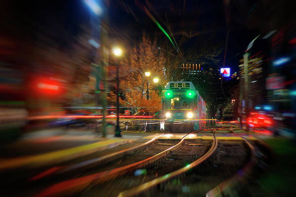 Photograph - Beacon Street T Stop And Citgo Sign - Boston by Joann Vitali