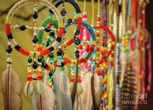 Photograph - Beaded Dreamcatchers by Janice Pariza