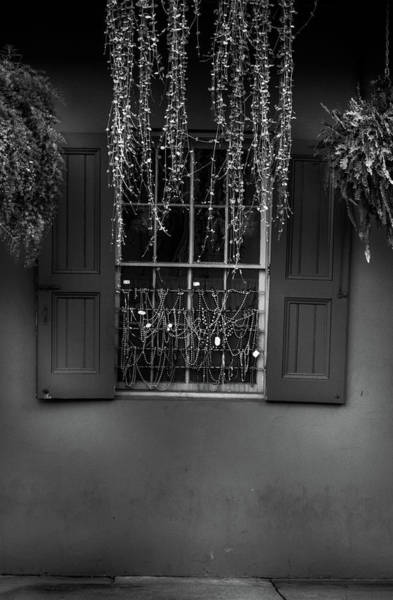 Wall Art - Photograph - Beads In A Window In Black And White by Greg and Chrystal Mimbs