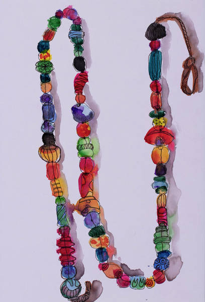 Wall Art - Painting - Beads by Linda Spitsen