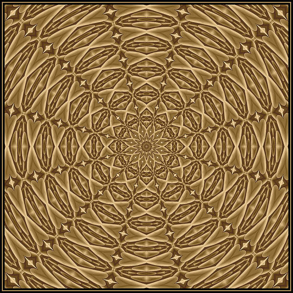 Digital Art - Beaded Treasure Sepia Tile K12-4s by Doug Morgan
