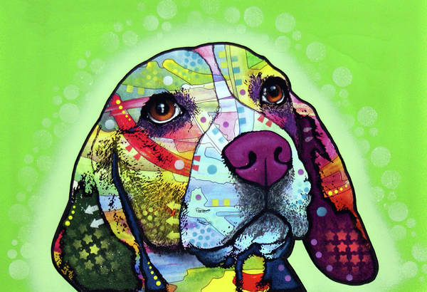 Wall Art - Painting - Beagle by Dean Russo Art