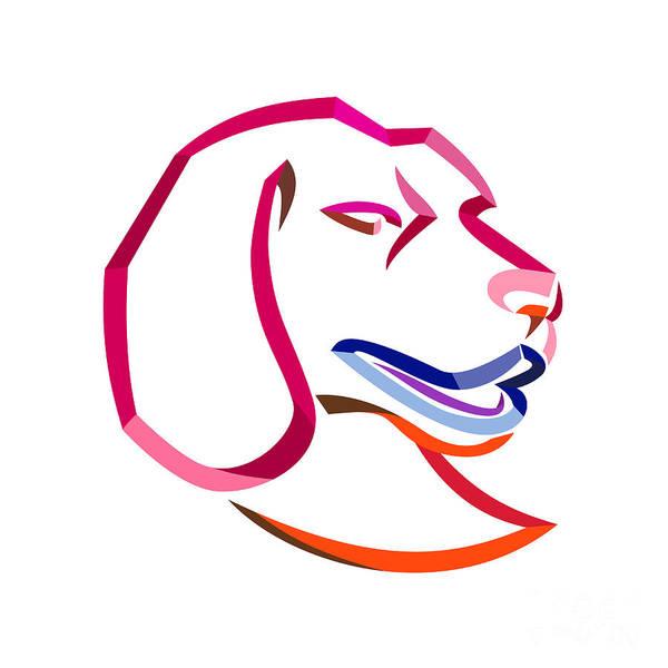 Wall Art - Digital Art - Beagle Head Ribbon Art by Aloysius Patrimonio