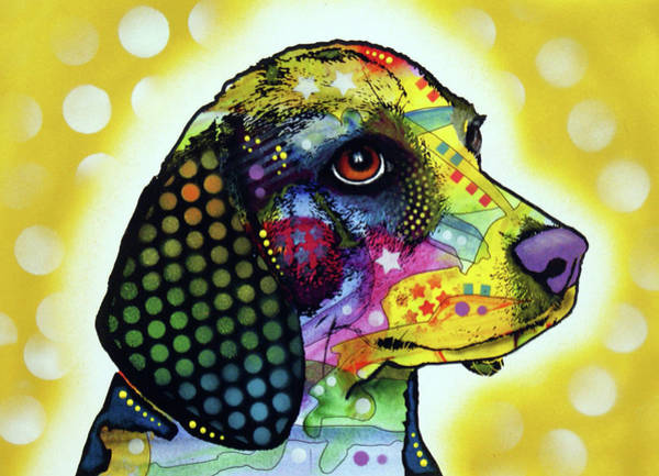 Wall Art - Painting - Beagle II by Dean Russo Art
