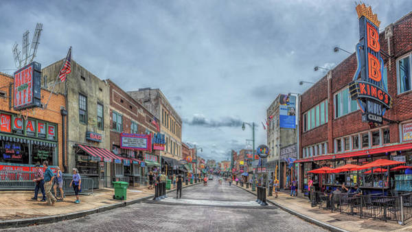 Photograph - Beale Street Panorama by Susan Rissi Tregoning