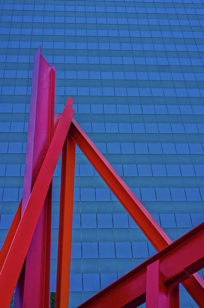 Photograph - Beams On Blue by Thomas Hall