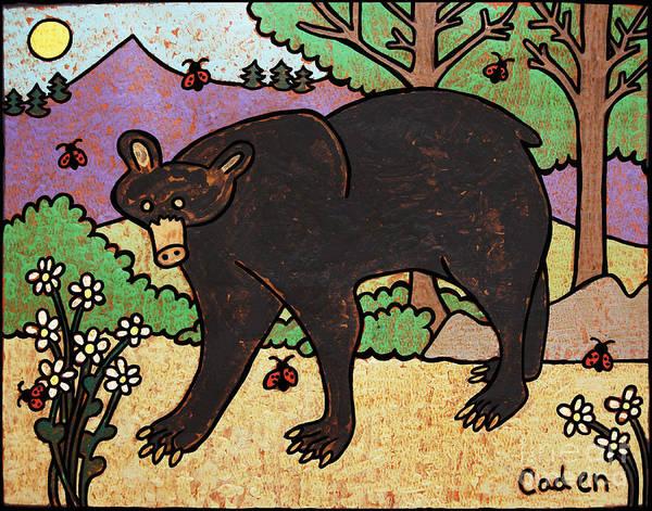 Painting - Caden's Bear 2 by Amy E Fraser and Caden Fraser Perkins