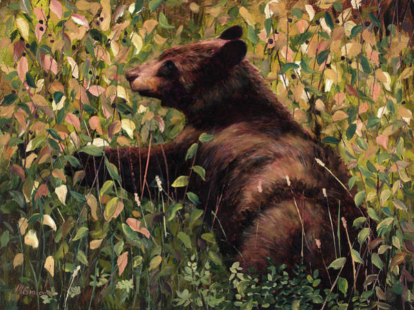 Painting - Bear Berries by Mary Giacomini