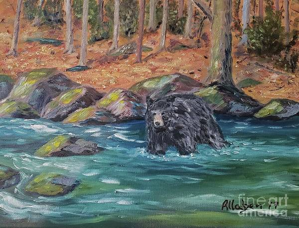 Painting - Bear Crossing by Stanton Allaben