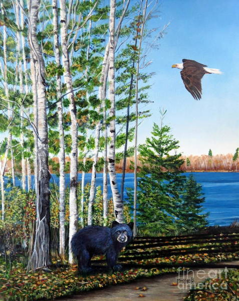 Painting - Little Bear And Eagle Wing by Marilyn McNish