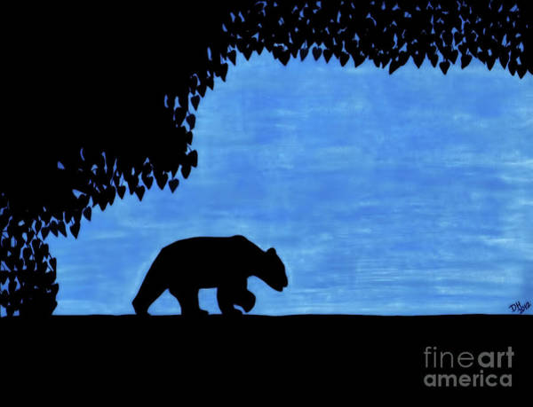 Drawing - Bear - In The - Woods by D Hackett