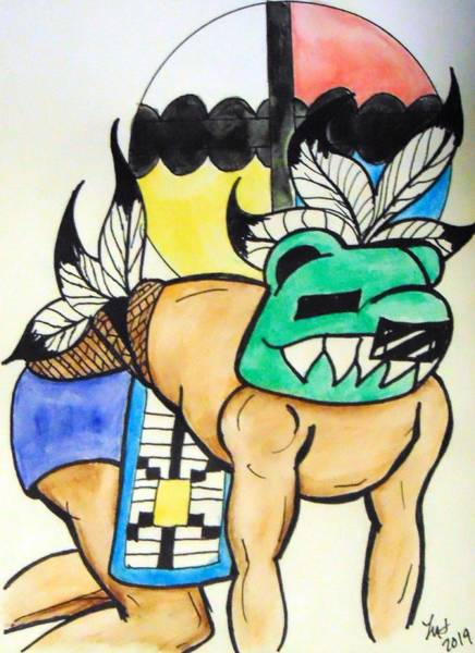 Mixed Media - Bear Kachina by Loretta Nash