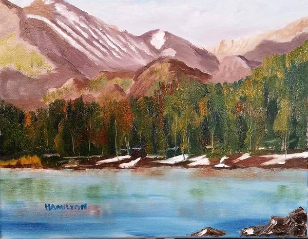 Painting - Bear Lake And The Keyboards by Larry Hamilton