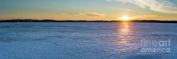 Wall Art - Photograph - Bear Lake Sunset Panorama In Winter by Twenty Two North Photography