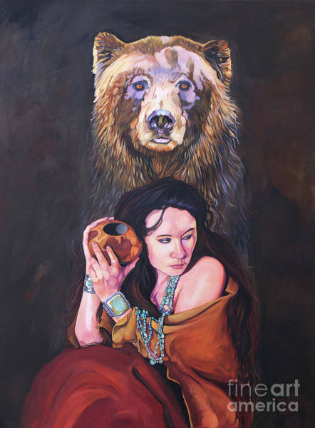 Painting - Bear Medicine by J W Baker