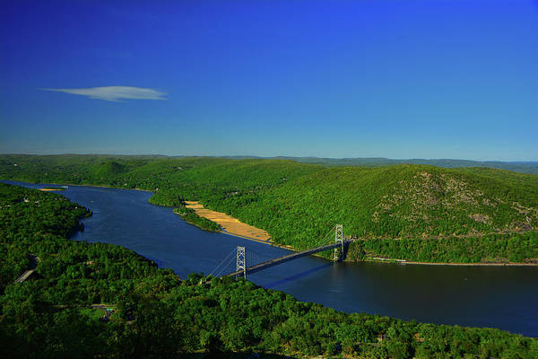 Photograph - Bear Mountain Bridge From The At On Bear Mountain by Raymond Salani III