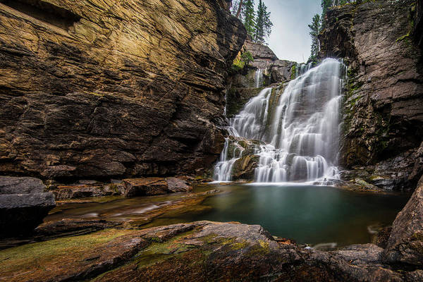 Photograph - Bear Tooth Falls by Roy Nelson