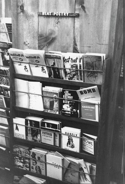 Retail Photograph - Beat Poetry At The Paperback Book by Fred W. McDarrah