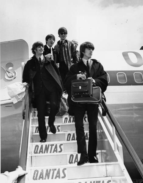 George Harrison Photograph - Beatles Descend by Jim Gray