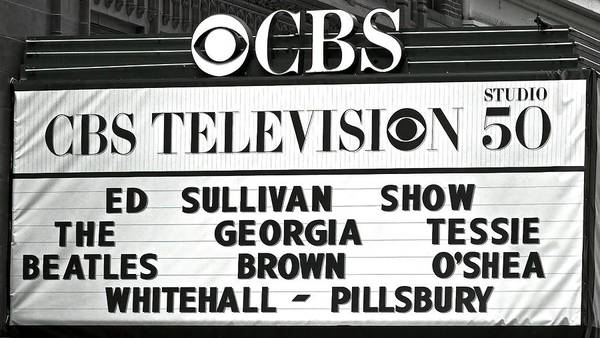 Wall Art - Photograph - Beatles - Ed Sullivan Show Marquee 1964 by Daniel Hagerman