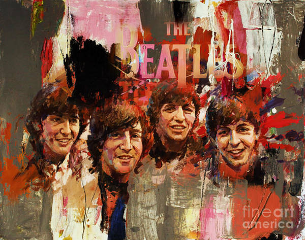 Rockstar Painting - Beatles by Gull G