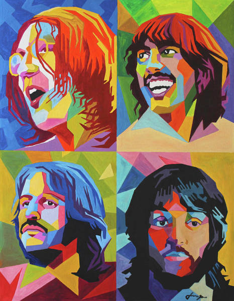 Wall Art - Painting - Beatles In Color by Dan Haraga