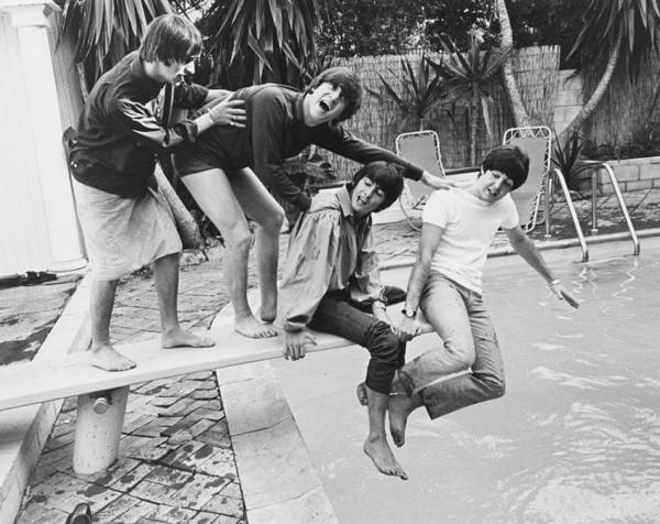Photograph - Beatles In La by Express