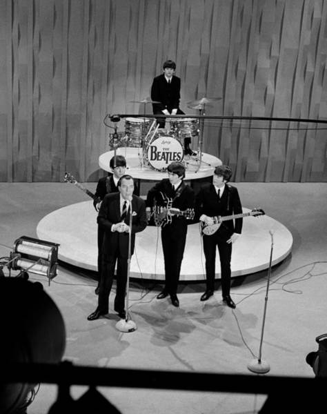Photograph - Beatles On Ed Sullivan Show by Popperfoto