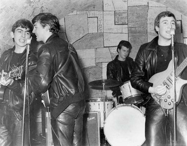 Photograph - Beatles Performing At The Cavern Club by Michael Ochs Archives