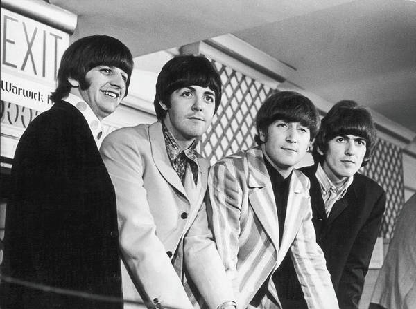 Smiling Photograph - Beatles Press Conference by Fred W. McDarrah